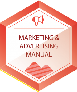 marketing and advertising manual icon