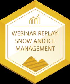 webinar replay Snow and Ice